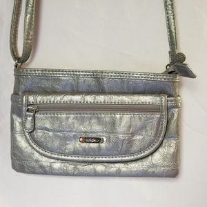 MultiSac Silver Crossbody bag